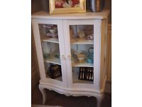Barker and Stonehouse Shabby Chic Glass display cabinet