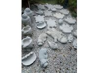Large Handmade Concrete Garden Statues & Stepping Stones