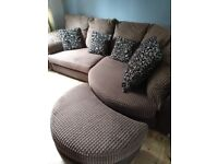 4 seater curved sofa