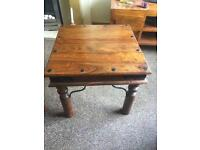 Solid wood coffee table and 2 side tables