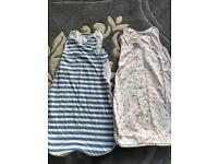 2 x Grobags age 0-6 months 0.5 and 1 tog