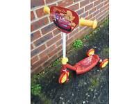 Child/toddler scooter lightening mcqueen