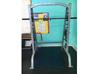 Johnson Smith Machine bench press squat rack, commercial grade, good working order