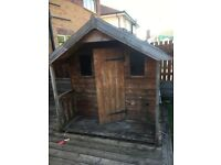 Wooden playhouse for garden w:70inch x d: 70inch