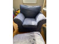 Armchair&leg rest giving for free