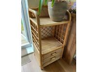 Wicker storage unit/plant stand