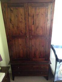Wardrobe and bedside cabinet in oak stain - Warren Evans