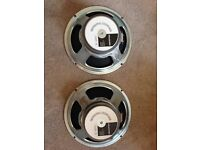 Celestion G12T-75 speakers (Pair). 16ohm.