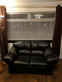 Black Leather Living Room Suite (2 Seat and 3 Seat)