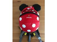 LittleLife Minnie Mouse toddler backpack red