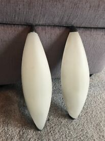 John Lewis pair of white and chrome wall lights cost £80