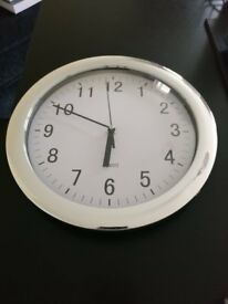 Chrome Clock - Same day local delivery