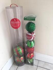 Large Christmas baubles