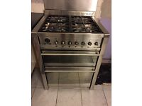 Free Smeg cooker - two electric ovens and gas hob