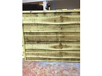 Super heavy duty fence waney lap panels