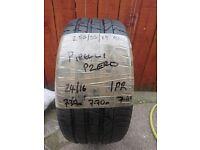 255/55/19 96y Pirelli Pzero tyre with 7mm tread remaining