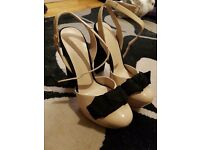 OFFICE platform high heels bow shoes size 8