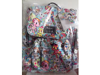 Ju Ju Be Unikiki 2.0 Be sporty backpack changing bag, brand new, great print placement!!