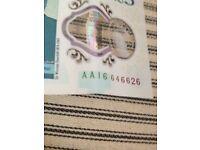 A a 16 5 pound note