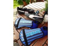 Astroturf boots size 9 and shin pads