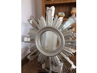 Next starburst silver mirror. Large. Stunning in any room
