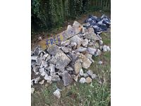 Concrete rubble free to collect
