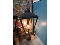 2 Prop Street Lamps And 1 Pillar Post