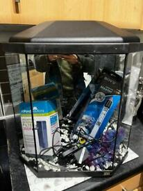 Fish tank with brand new filter and heater!
