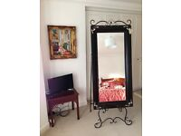 Free standing dressing room mirror approx 72cm X 175cm