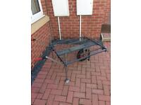 Rigger fishing platform trolley