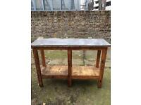 Vintage solid wood workbench , kitchen island sideboard man cave