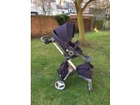Stokke pushchair, carrycot and loads of extras
