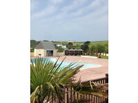 Static Holiday Caravan JULY and AUGUST Cornwall Newquay View Resort Indoor Pool Walk to beach Surf