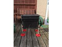 Fishing seat box with adjustable legs