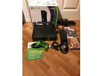Xbox 360 console and kinect plus games boxed , good condition
