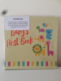 Baby firsts book