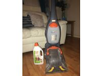 Vax carpet cleaner with carpet solution