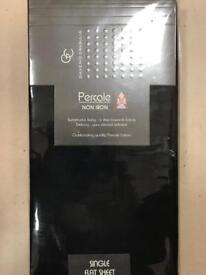 Percale Single Flat Sheet