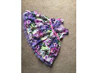 Litle RJR john rocha purple flowerd dress 3-6mont