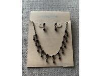 Carol Dauplaise Amethyst Necklace & Earrings Set