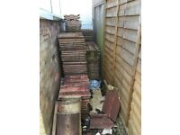 Approx 250 roof tiles £50