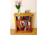 Beautiful solid pine book shelf, ideal for a study or bedroom