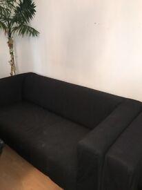 IKEA KLIPPAN SOFA BLACK