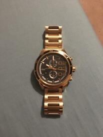 Gold Diesel Solid Stainless Steel Watch