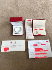 Cartier love bracelet 18k white gold size 21 box and papers rrp £5800