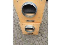 "Cheshunt Hydroponics Store - used 10"" 4250m3 Tornado acoustic box fan"
