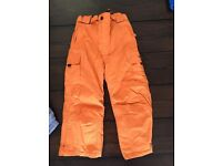 Orange Trespass Ski Trousers for 4-5 year old £20