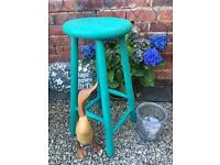 Vintage Stool Painted in Annie Sloan Florence