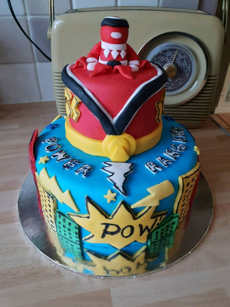 Amazing Power Ranger Birthday Cake In Norwich Norfolk Gumtree Funny Birthday Cards Online Alyptdamsfinfo