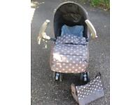 Mamas and Papas Pliko Pramette and car seat *reduced price - must sell